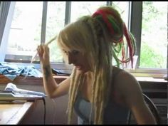 """Dreads ~How I Style My Synthetic Dreads~ via rejectedange18 (you tube) AKA Kime (pronounced Kimmy) Lots of Great Tutorials! Head on over to @ Syndreads on facebook & tumblr & say """"Hi!"""" Tell her Sxymamaceta sent you!  :)"""