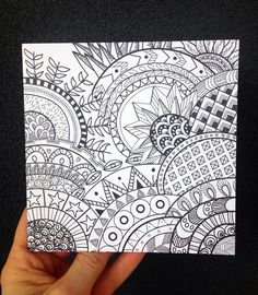 Mandalas | Zentangle | Black and White Patterns | Blank Card | Birthday Card | Anniversary Card | Thank you Card | Greeting Card by bettybanksia on Etsy https://www.etsy.com/au/listing/595620769/mandalas-zentangle-black-and-white