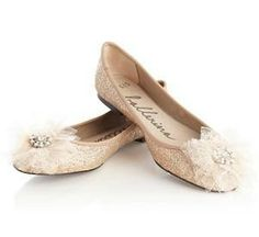 Vintage and lacy ballerina flats.