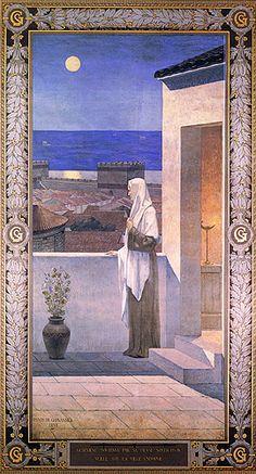 Sainte Geneviève veillant sur Paris (fresque du Panthéon, 1898)