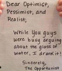 haha -be the opportunist!