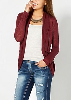 Burgundy Solid Cocoon Wrap