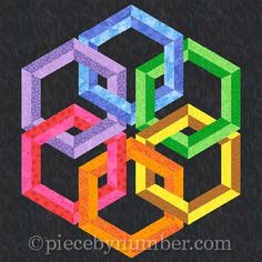 Looking for your next project? You're going to love Hexadaisy - paper pieced quilt block by designer PieceByNumber.
