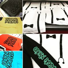 Urban Roots garments for summer shows! #screenprinting #urbanroots #bowtie #bright #dance