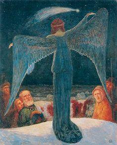 Annunciation To The Shepherds . 1902 . by Heinrich Vogeler . 1872-1942