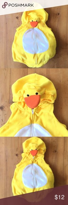 Carter's Baby Chick Costume 6 to 9 months so cute 22 in long including hood 12 in chest  great condition so sweet very easy to wear zips up the front padding in bottom for full chick bottom also washable Carter's Costumes Halloween