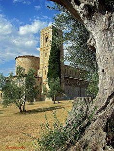 Abbazia di Sant'Antimo a Castelnuovo dell'Abate, Toscana.