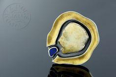 Cingo - silver brooch with gemstones
