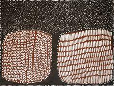 Lena Nyadbi / Starry night in Jimbirla country 2012 Natural ochre and pigments on linen 90 × 120cm