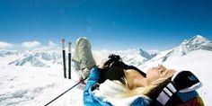 Cool Blonde Skier Twitter Headers