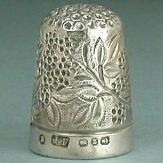 Antique Blackberry Form Sterling Silver Thimble * English * Hallmarked 1899