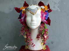 Headpiece flores em você 8 dança tribal fusion