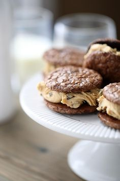 Butter Chocolate Sandwich Cookies have an epic peanut butter filling ...