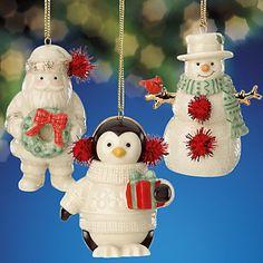 Lenox Merry Little Christmas Ornament Set of 3 Santa Snowman Penguin NIB Christmas Kiss, Merry Little Christmas, Christmas Images, Vintage Christmas, Lenox Christmas Ornaments, Santa Ornaments, Snowman Decorations, Christmas Decorations, Holiday Gifts