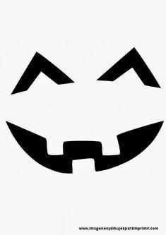 molde para cara de calabaza de halloween