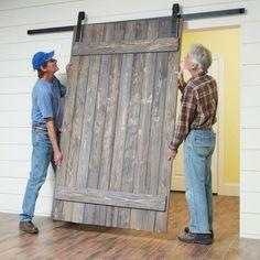 Pallet Barn Door Diy Rustic 66 Ideas For 2019 Rustic Doors, Rustic Barn, Barn Wood, Pallet Barn, Diy Barn Door Hardware, Diy Barn Door Plans, Building A Barn Door, Building Homes, Diy Garage