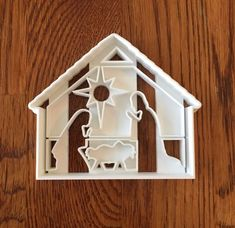Christmas Nativity, Christmas Crafts, Christmas Decorations, Fondant, Cnc Cutting Design, Christmas Cookie Cutters, The Night Before Christmas, Holiday Cookies, Cookie Decorating