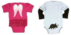 the only baby registry specifically for parents who aren't finding out if it's a girl or boy: Ruffle & Rugged Butts onesies (love both of these)