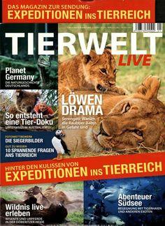 Die ganze Zeitschrift hat ein neues Design - deswegen unser Cover des Tages! Gefunden in: TIERWELT LIVE Nr. 1/2014