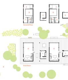 Here, a floor plan of the shared structure, called the CP Harbour House, which was designed by architects (and residents) Melana Janzen and John McMinn.
