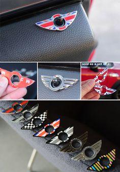 Wings Door Lock Trim: R50/2/3/5/6/7/8/9 Mini Cooper Custom, Mini Cooper Classic, Classic Mini, Mini Cooper Accessories, Car Accessories For Guys, Mini Countryman Accessories, Mini Cooper Models, Mini Cooper S, Accesorios Mini Cooper