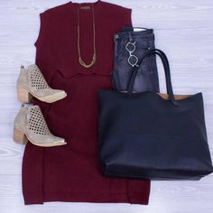 Bordeaux Burgundy Dark Cherry... whatever color you want to call this we are OBSESSED! We have sweaters dresses and clutches in it! We are open till 7! www.shopelysian.com She's A Champion Sleeveless Tunic in Dark Cherry $78. online  in-store. Multi Chain Necklace 40% Off --> NOW $31.20! in-store only. Vicky Front Diamond Cut Bootie $82. online  in-store. @quayaustralia X Kylie Purple Honey Sunnies $65. in-store only. Fame Game Distressed Black Skinny $82. in-store only. #WearElysianDaily…