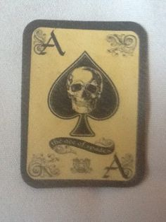 Ace of Spades Motorcycle Leather Patch by Hipstertown on Etsy, $10.00