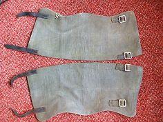 Original British Army WW2 pattern webbing anklets - ' gaiters ' SIze 2 1951 date
