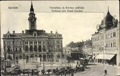 1918 Town hall and Hotel Kovács Novi Sad, Town Hall, Once Upon A Time, Old Photos, Paris Skyline, Beautiful Places, Louvre, City, Building