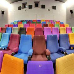 A legkülönlegesebb mozik szerte a világon #mozi Floor Chair, Lighthouse, Cinema, Couch, Photo And Video, Dublin, Furniture, Theater, Europe