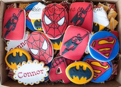 Superhero cookies - Kookie Kreations by Kim