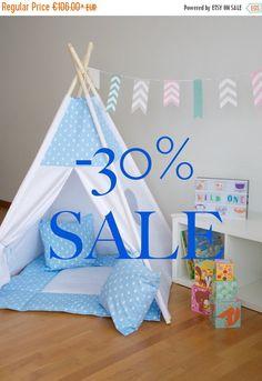 BLUE DROPS Teepee, kids play tent tipi, kids play house, enfant tipi, kids teepee, wigwam, children playhouse by WigiWama on Etsy https://www.etsy.com/listing/269143740/blue-drops-teepee-kids-play-tent-tipi