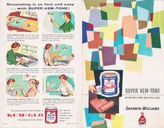 Vintage Goodness - A Blog For All The Vintage Geeks: Vintage Decorating - 1950's Paint Color Chip Brochures