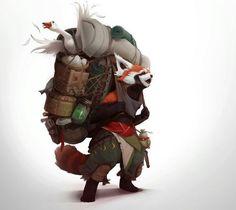 Red panda nomad, Redwall #fantasy character inspiration
