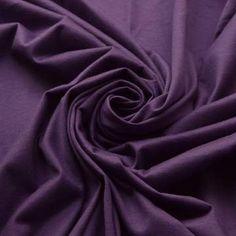 Mercerised Cotton Jersey - Violet - Purple Dress Fabric - cu d