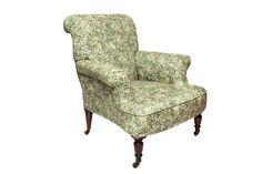 Antique Armchair#1.0_Pic2      Der antike Sessel wurde liebevoll restauriert und mit hochwertigen Liberty Stoffen bezogen. Die Rollen der Füße sind im Originalzustand aus vergangenen Zeiten. Accent Chairs, Armchair, Furniture, Home Decor, Restore, Upholstered Chairs, Sofa Chair, Single Sofa, Decoration Home