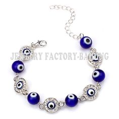 fashion blue glass evil eye bead with alloy evil eye charm turkish bracelet for girls♦️ SMS - F A S H I O N 💢👉🏿 http://www.sms.hr/products/fashion-blue-glass-evil-eye-bead-with-alloy-evil-eye-charm-turkish-bracelet-for-girls/ US $2.00