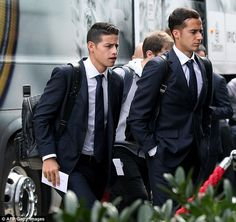 Real Madrid and Colombia attacking midfielder James Rodriguez arrives at the team hotel in Wolfsburg