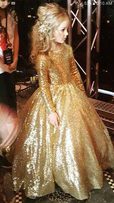 Gold flower girl dress great gatsby dress gold pageant dress