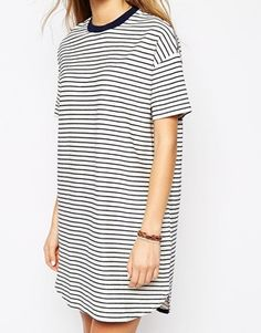 Enlarge Pull&Bear Stripe Jersey Dress