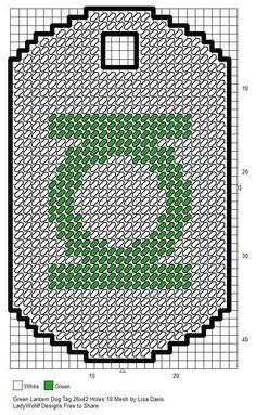 Green lantern dog tag