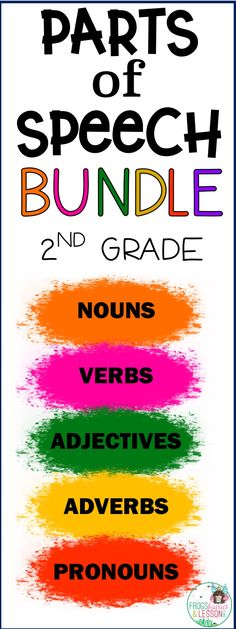 Parts of Speech Activities – Grade Bundle Parts of Speech printable activities and worksheets for grade students. Parts Of Speech Activities, Art Therapy Activities, Therapy Ideas, 2nd Grade Grammar, Nouns And Verbs, Verb Worksheets, Adverbs, Learning Tools, Teaching Reading