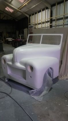 Sculpted car for Grease stage show ready for final touches
