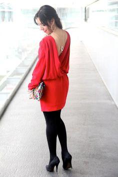 Con este vestido de Colour Nude causó sensación en el MFBWM Ana de Less is More Bell Sleeves, Bell Sleeve Top, Chic, Red, Tops, Women, Style, Fashion, Dress