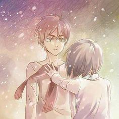 Eren x Mikasa 5 Anime, Fanarts Anime, Anime Love, Anime Art, Mikasa Anime, Mikasa X Eren, Attack On Titan Funny, Attack On Titan Fanart, Rivamika