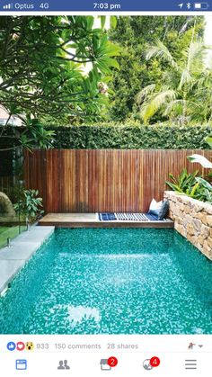 37 Amazing Small Pool Design Ideas On a Budget. Does not imply you can not delight at a pool of your life, just because you have got a backyard. Therefore, if you are eager to create swimming pool on . Small Swimming Pools, Small Pools, Swimming Pools Backyard, Swimming Pool Designs, Small Garden With Pool Ideas, Indoor Swimming, Small Yards With Pools, Inground Pool Designs, Swimming Pool Tiles