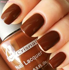 *Crisnail *Hot Chocolate *Manicure *Nails *Brown