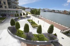 Creative communal gardens at St George's Ensign House, Battersea Reach in London by Barry Burrows, Managing Director of Bartholomew Landscaping