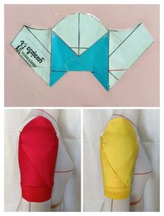 I just tried the Envelope sleeve posted by a few days ago. New Dress Pattern, Dress Sewing Patterns, Blouse Patterns, Clothing Patterns, Sewing Tutorials, Sewing Crafts, Sewing Sleeves, Pattern Draping, Sleeves Designs For Dresses