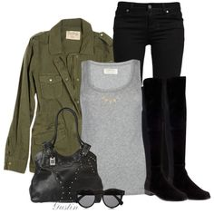 """""""army jacket"""" by stacy-gustin on Polyvore"""